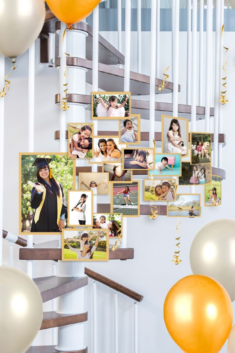 Photo Staircase Display