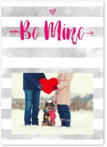 Be Mine Greeting Card Valentine's Day Photo Greeting Card