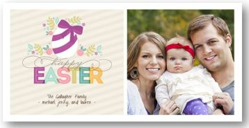 Easter Photo Card- Colorful Ribbon