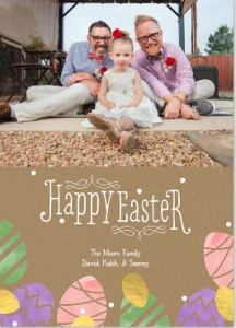 Easter Photo Card- Decorative Eggs