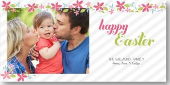 Easter Photo Card- Fantastic Flowers