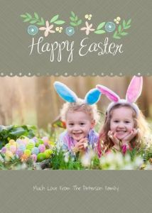 Easter Photo Card- Spring Floral
