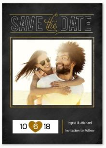 Chalkboard Moment- Save the Date