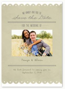 Trendy  Notepaper- save the date card